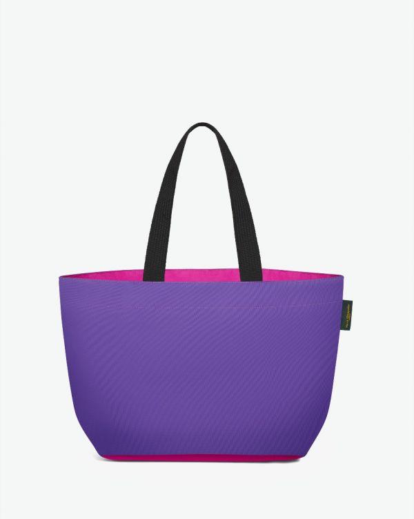 Hervé Chapelier - 1024N - Shopping bag rectangular base with basic shape Size M